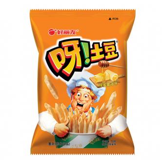 韩国ORION好丽友 呀!土豆薯条膨化食品 蜂蜜黄油味 70g