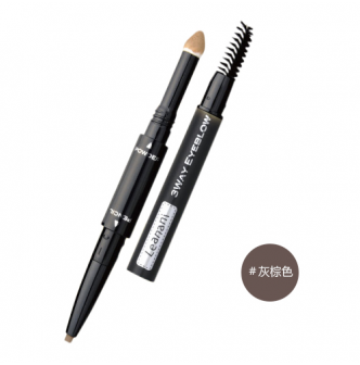 LEANANI 3 Way Eyebrow Pencil COSME No.1 Ash Brown 1pc