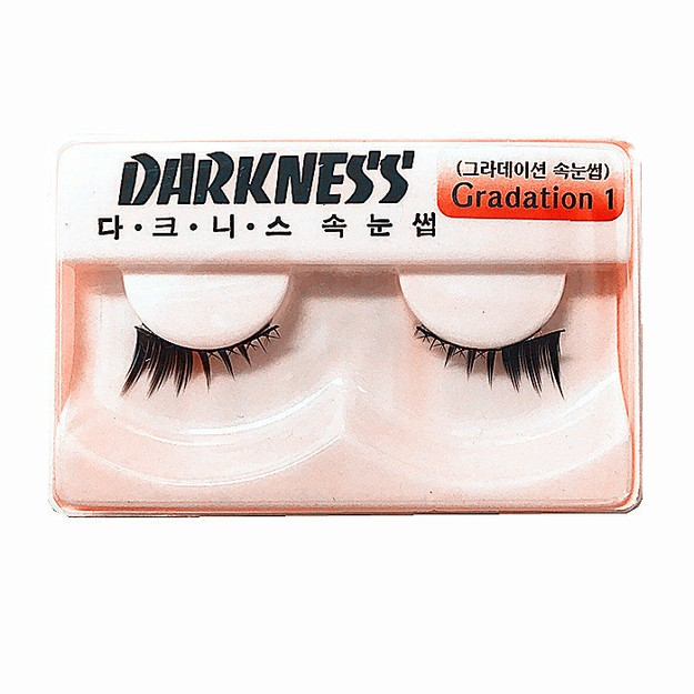 Product Detail - DARKNESS False Eyelashes #Gradation1 1Pair In 1Box - image 0