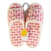 韩国COORDIANS 防滑透气可洗家用室内拖鞋 100%全棉 #粉红色 25cm~27cm
