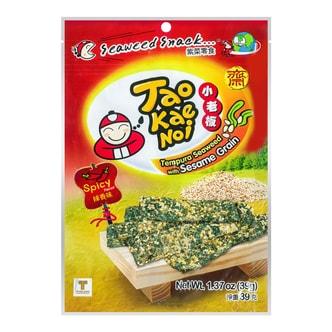 泰国小老板 烤芝麻紫菜脆片 辣香味 39g