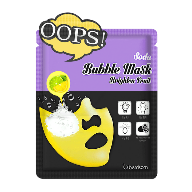 Product Detail - BERRISOM Oops Soda Bubble Mask  Brighten Fruit 1Sheet - image 0