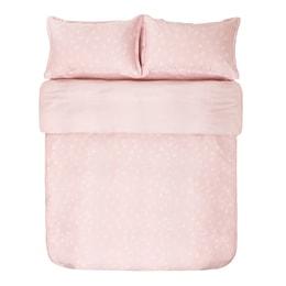 苏宁极物 天丝小秘密纯棉床品 贡缎四件套 1.8m床 粉色
