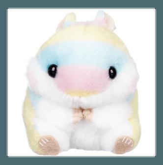 AMUSE Rainbow Hamster Plush Toy 4 in1 Keychain 4inch