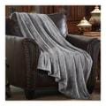 MERRYLIFE单层毛毯 柔软保暖摇粒绒  灰色  50''60'' 四季通用