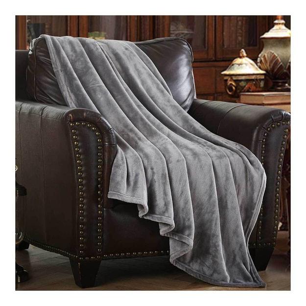 商品详情 - MERRYLIFE单层毛毯 柔软保暖摇粒绒  灰色  50\'\'60\'\' 四季通用 - image  0