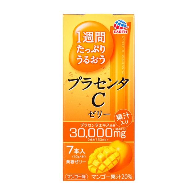 商品详情 - 日本Earth 一周浸透滋润 胎盘素维他命C果冻 芒果味 7支装 - image  0