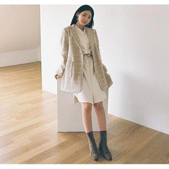 【韩国直邮】CHERRYKOKO 韩国甜美夹克外套 米色 均码