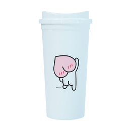 Korean KAKAO Tumbler #500ml  WHITE-APEACH