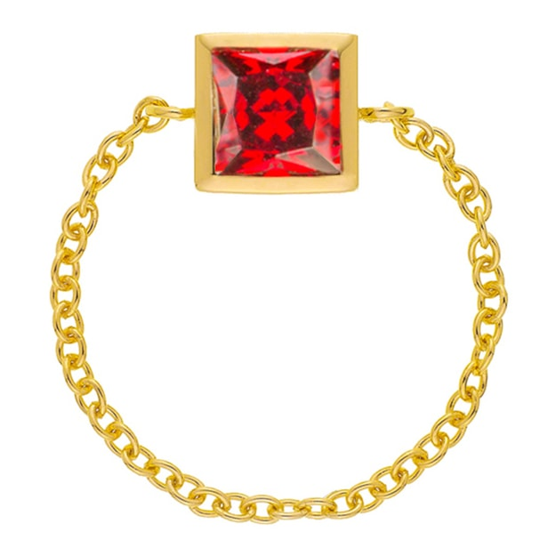 Product Detail - DE YEEN Single Color Ring #Red 1pc - image 0