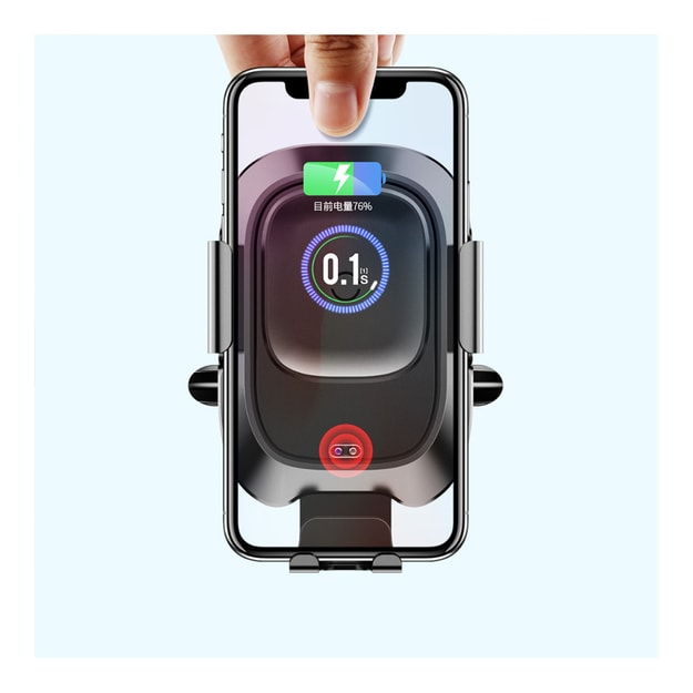 """Product Detail - RAMBLE For 4.0\""""-6.5\"""" Phones Infrared Sensing Wireless Car Charger Holder For iPhone Xs Max XR Samsung Note9 Charging - image 0"""
