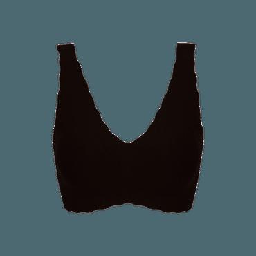 Ubras 深V小浪花背心文胸 黑色 BL01 均码适合A-C杯