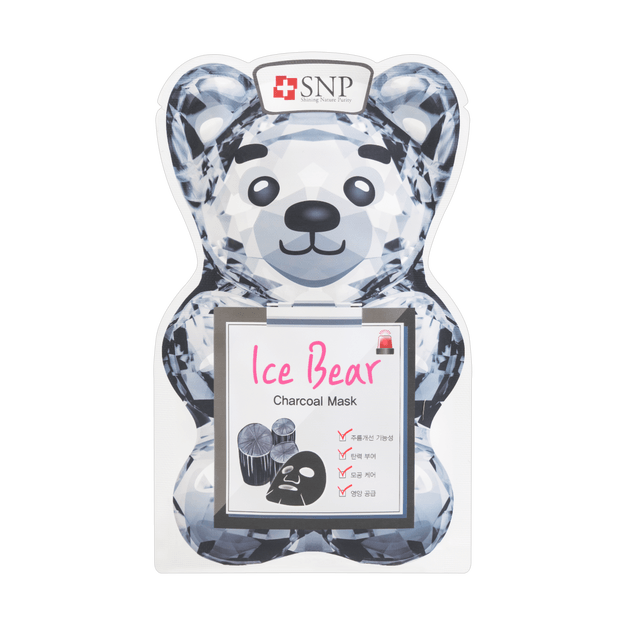 Product Detail - Korea SNP Ice Bear Charcoal Mask 1sheet - image 0