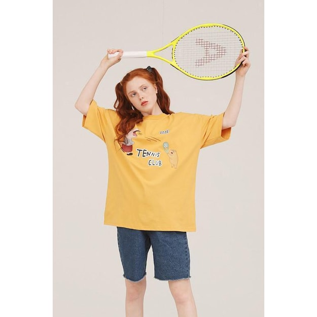 Product Detail - PROD TENNIS CLUB OVERSIZED T-SHIRT- YELLOW -L - image 0