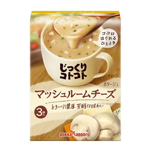 Product Detail - JAPAN POKKA SAPPORO Mushroom cheese Soup 3pc - image  0