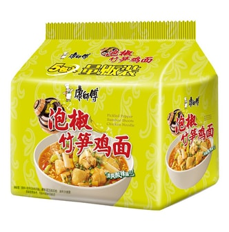 MASTER KONG Pickled Pepper Bamboo Shoots Chicken Noodle 104g * 5pcs