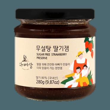 韩国 Father's Hill 爸爸山丘 儿童辅食天然无糖果酱 儿童可放心食用 280g #草莓 果肉满满