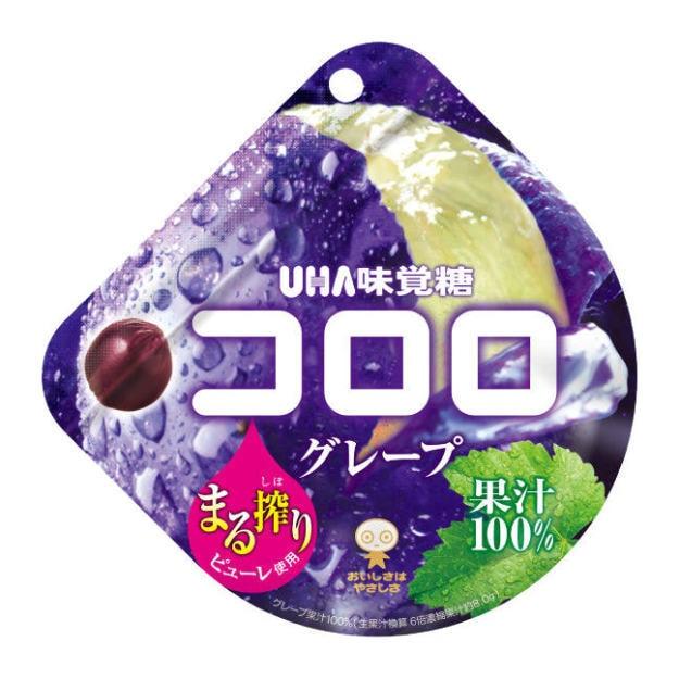 商品详情 - 【日本直邮】UHA 悠哈味觉糖 全天然果汁软糖 紫葡萄味  48g - image  0