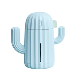 TIMESWOOD USB Air Humidifier Cactus Timing Aromatherapy Diffuser Mist Maker Fogger Mini Aroma Atomizer Blue 1 pc