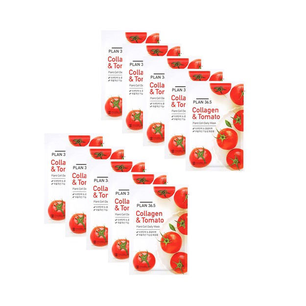 Product Detail - PLAN36.5 Collagen&Tomato Plant Cell Daily Mask 10pcs - image 0