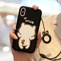 YINGNI Super Cute Iphone X/XS Case Black