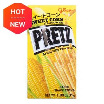 日本GLICO格力高 PRETZ饼干棒 甜玉米口味 31g