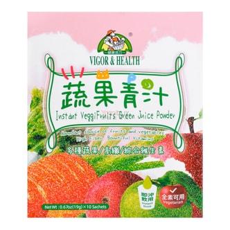 台湾VIGOR HEALTH 蔬果纤维青汁 19gx10袋