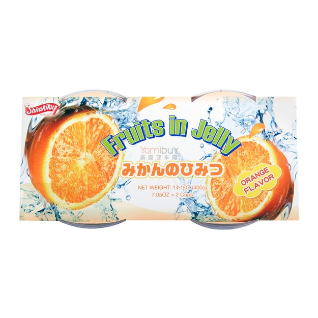 Product Detail - Jelly Cup Orange Flavor 2 Cups 400g - image  0