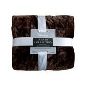 QBEDDING All Season Ultra-Soft Microplush Blanket Cobbled Classic Dark Walnut Full/Queen Size