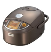 ZOJIRUSHI Induction Heating Pressure Rice Cooker  Warmer 5.5 Cup Stainless Brown NP-NVC10 10.12