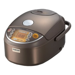 Change to 08810】ZOJIRUSHI Induction Heating Pressure Rice Cooker Warmer 5.5 Cup Stainless Brown NP-NVC10 Made In Japan