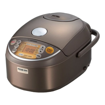 ZOJIRUSHI Induction Heating Pressure Rice Cooker Warmer 5.5 Cup Stainless Brown NP-NVC10 Made In Japan