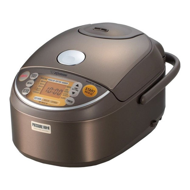 Product Detail - ZOJIRUSHI Induction Heating Pressure Rice Cooker Warmer 5.5 Cup Stainless Brown NP-NVC10 Made In Japan - image 0