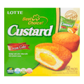 LOTTE Creamy Egg Yolk Filling Pie 12pcs 276g Family Size