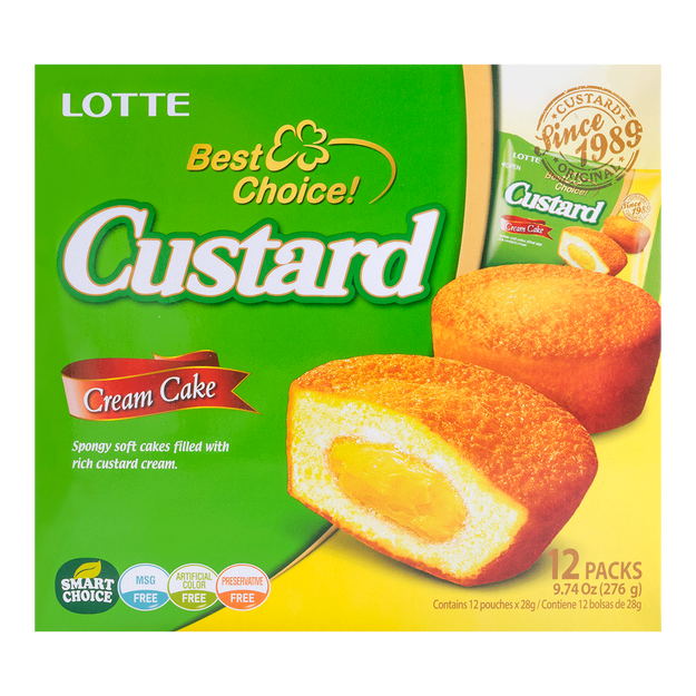 Product Detail - LOTTE Creamy Egg Yolk Filling Pie 12pcs 276g Family Size - image 0