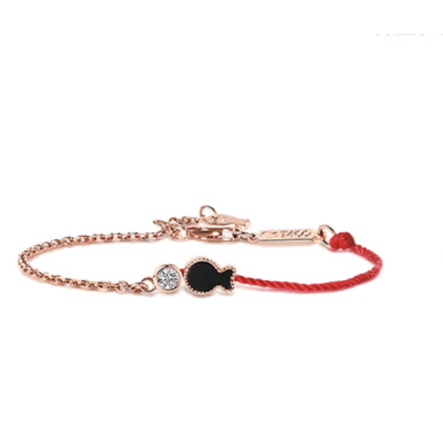 Product Detail - IDA CALLEGARO Red Rope Silver Bracelet Female Sterling Silver Simple - image 0