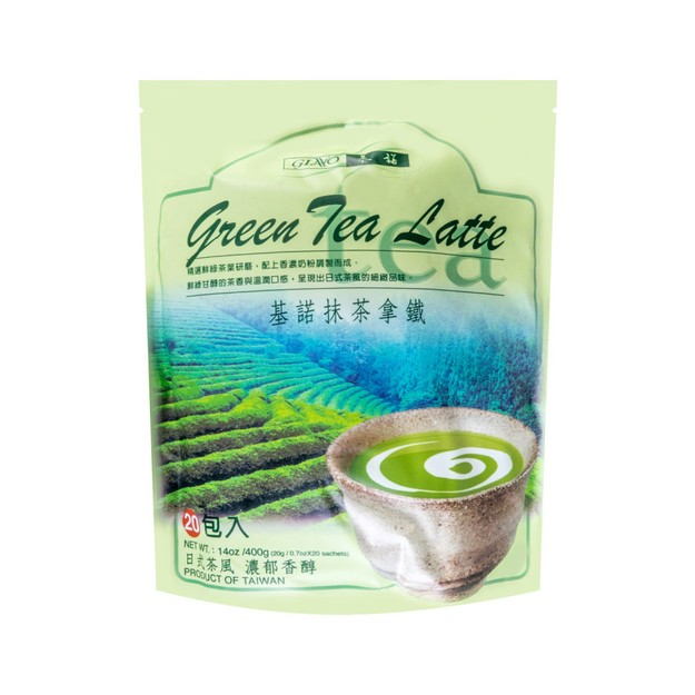 商品详情 - 台湾基诺 日式风味 抹茶拿铁 20包入 400g - image  0