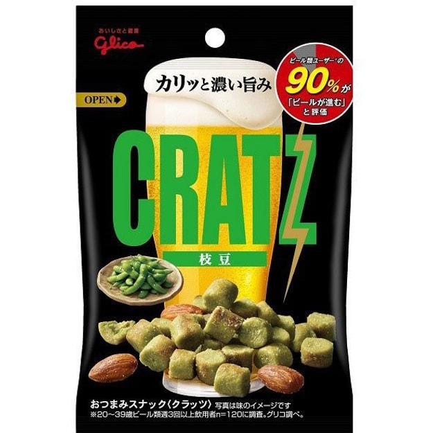 商品详情 - 【日本直邮】GLICO格力高 CRATZ 什锦小零食 下酒神器毛豆味 42g - image  0
