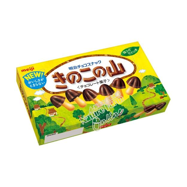 商品详情 - MEIJI明治 蘑菇的山 巧克力饼干 原味 74g - image  0
