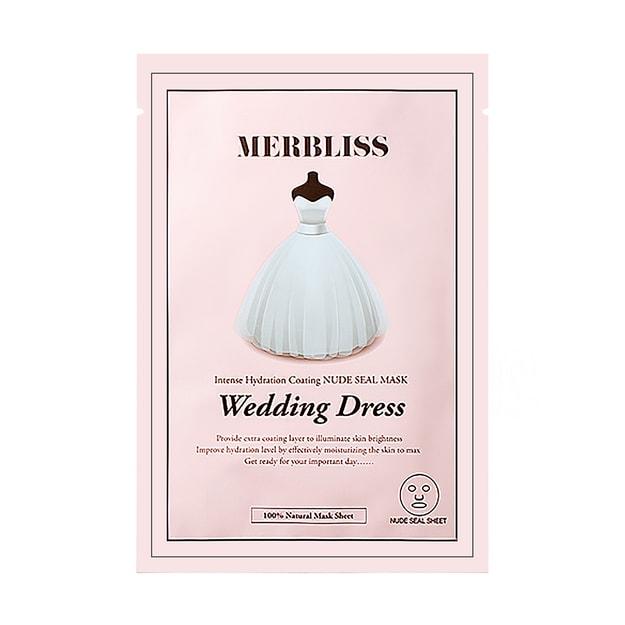 Product Detail - MERBLISS Wedding Dress Intense Hydration Coating Nude Seal Mask 1sheet - image 0
