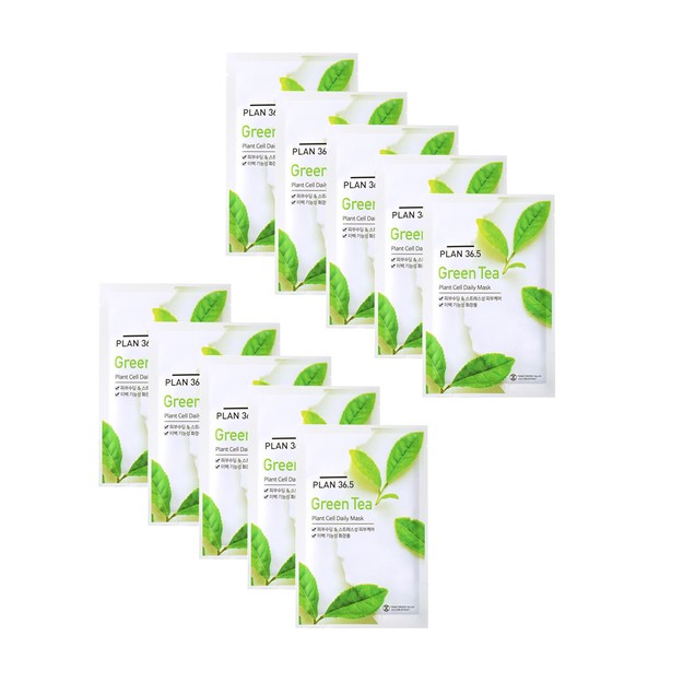 Product Detail - PLAN36.5 Green Tea Plant Cell Daily Mask 10pcs - image 0