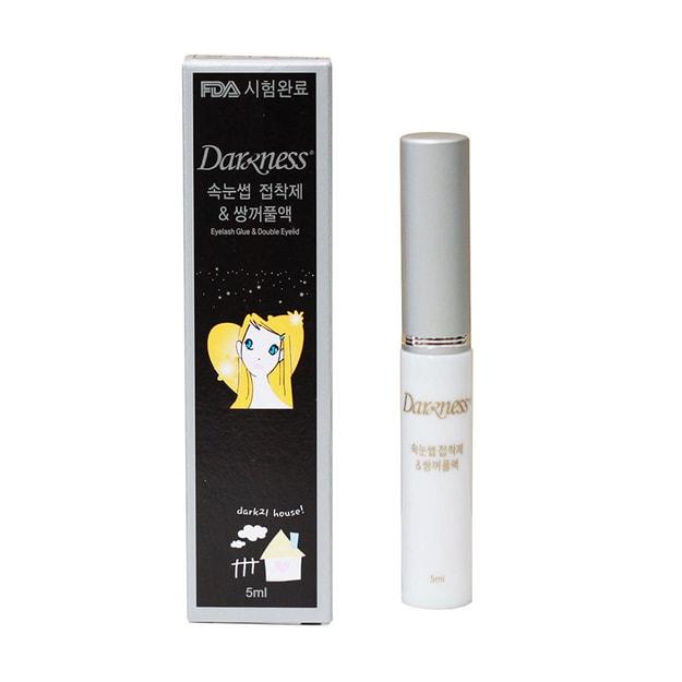 商品详情 - 韩国DARKNESS 达克尼斯假睫毛双眼皮胶水 #白色 5ml - image  0