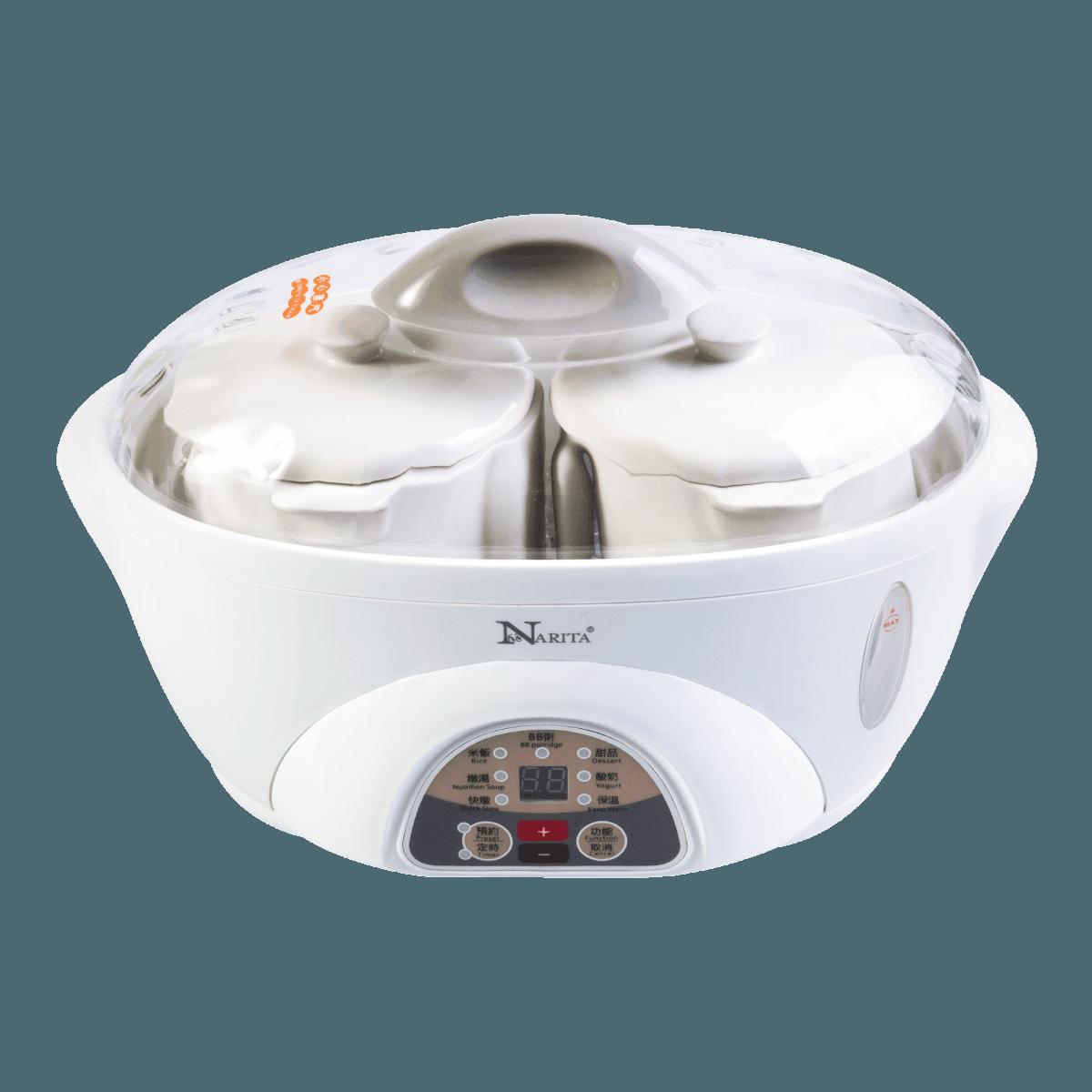 Yamibuy.com:Customer reviews:NARITA Multi Function Ceramic Pot Electric Stew Pot Slow Cooker 1.5L*1+0.5L*2 NSQ-165X