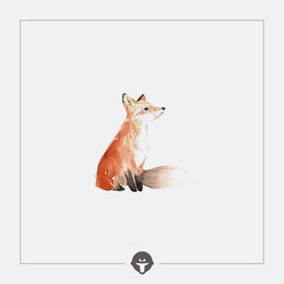 @BECOME Original Tattoo Stickers Fox Three Piece
