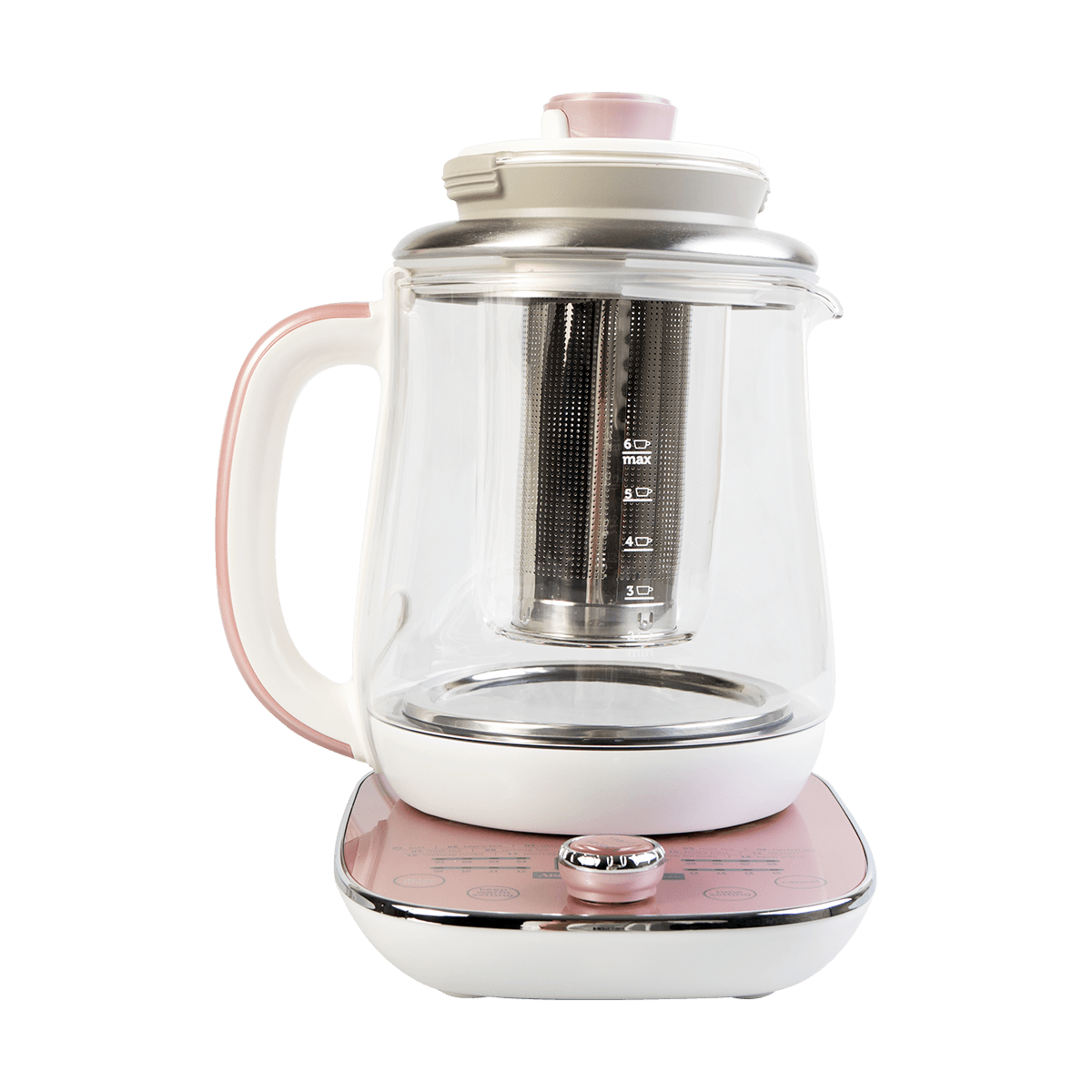 Yamibuy.com:Customer reviews:Multi Function Glass Electric Water Kettle, Healthy Tea Kettle, Delay Timer, 1.5L, AWK-701, Rose Gold