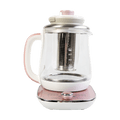 AROMA Multi Function Glass Electric Water Kettle Healthy Tea Kettle 1.5L AWK-701 Rose Gold