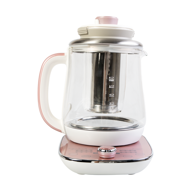 Product Detail - AROMA Multi Function Glass Electric Water Kettle Healthy Tea Kettle 1.5L AWK-701 Rose Gold - image 0