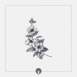 @BECOME Original Tattoo Stickers Flower language One Piece