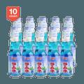 【超值分享装】日本SHIRAKIKU赞岐屋 弹珠汽水 蓝莓味 200ml * 10瓶