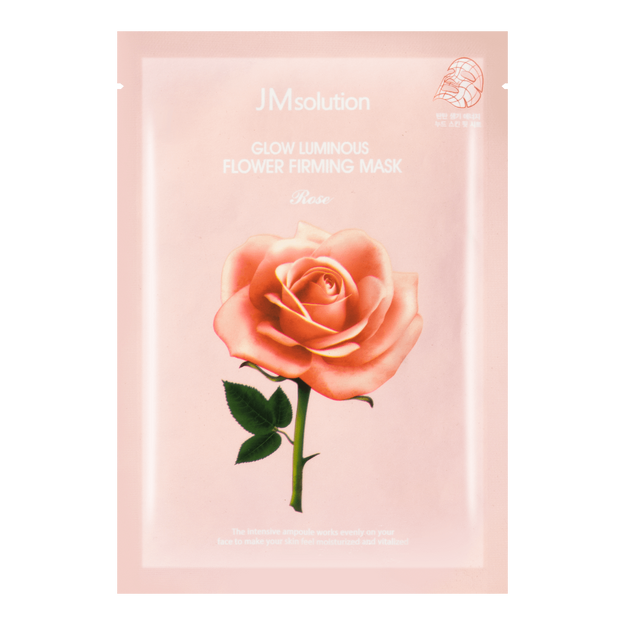 Product Detail - JM SOLUTION Glow Luminous Rose Flower Firming Mask 1 sheet - image 0